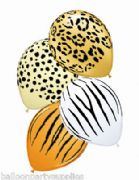 "5 x 11"" Safari balloons assorted designs and Colours"